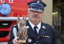 Piotr Zieliński odebrał statuetkę wramach naszego plebiscytu dla strażaków OSP